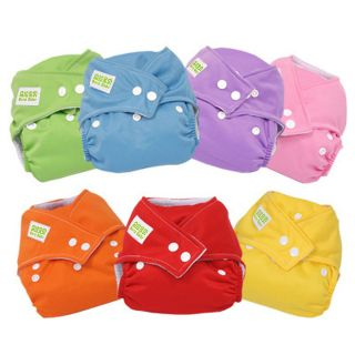 SINYO Baby Reusable Cloth Diaper Nappy 7 Colors Size Adjustable AIO