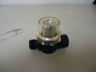 """RV MARINE WATER PUMP STRAINER FILTER SHURFLO 255 213 1/2"""" NPT M x 1"""