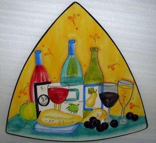 Hausenware Wine and Cheese Serving Platter designed by Mary Jane