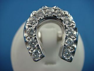 Mens Diamond Horseshoe Ring .28ctw cluster Nugget design 10K yellow
