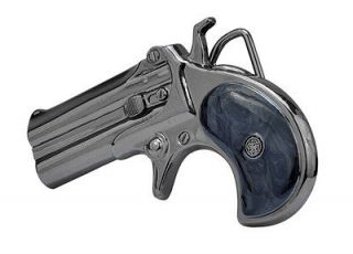 Nickle Derringer Handgun Belt Buckle Pistol Weapon Gun Revolver