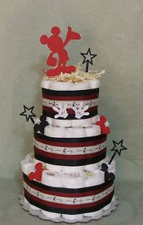 Tier Diaper Cake Walt Disney MICKEY MOUSE Baby Shower Boy or Girl