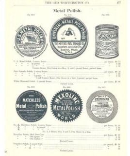 1902 White Diamond Metal Polish Antique Catalog Ad