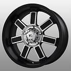 17 inch V Rock Diesel Black Wheels Rims 6x5.5 Trooper Sedona GX470