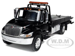 ​NAL DURASTAR 4400 FLAT BED TOW TRUCK BLACK W CHROME BED 1/24 JADA