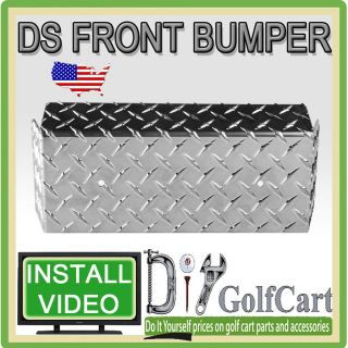 Club Car DS   Aluminum Diamond Plate Front Bumper Cover   Golf Cart