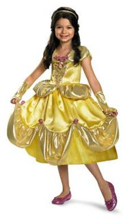 Girls Disney Princess Belle Dress Costume
