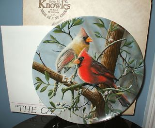 First Edition Birds Of Your Garden Collection Cardinal China Plate