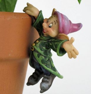 JIM SHORE DISNEY Flower POT HANGER Figurine DOPEY Garden Decor Statue