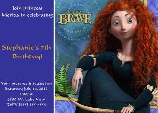 Disney Princess Merida Birthday Party Photo Custom Invitation U Print