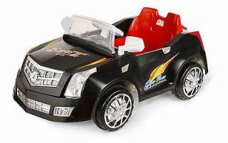 BLK CADILLAC R/C POWER WHEELS REMOTE CONTROL RIDE ON CAR w/  AUX