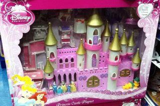 Disney Princess Castle Playset with 6 Princess Figurines