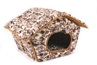 NEW PET TENT   Brown w. White Paw Print   Dog Cat House