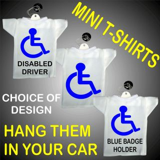 Disabled Mini T Shirts Driver,Blue Badge Holder,Logo,Mobility,Hang in