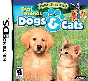 Paws & Claws Best Friends   Dogs & Cats (Nintendo DS) DSi Complete