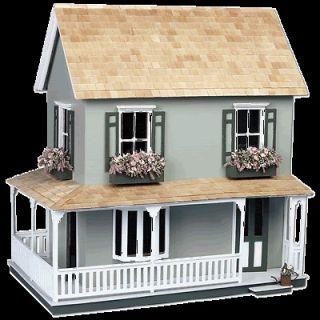 Greenleaf Wooden Dollhouses Laurel Dollhouse   Doll House kit   For