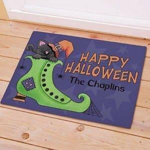 Black Cat Halloween Doormat Cute Custom Fall Welcome Door Mat