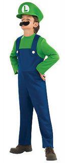 Boys Child SUPER MARIO BROTHERS Luigi Costume Outfit