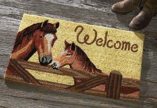 Western Cowboy Horse No Slip Coco Coir Welcome Doormat Door Mat Decor