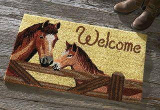 Western Cowboy Horse No Slip Coco Coir Welcome Doormat Door Mat Decor