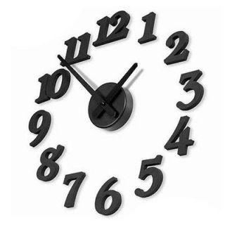 DIY Design Modern Art Digital Number Wall Clock Home Interior Decor