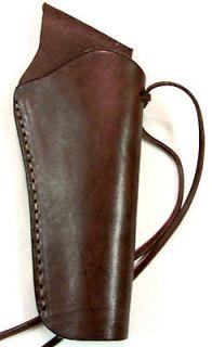 Brown Cross Draw Thick Leather Western Cowboy Revolver Pistol Gun