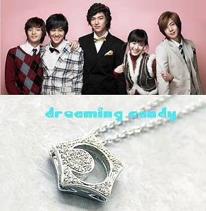 Korean TV Drama Boys Before Over Flowers Star Necklace