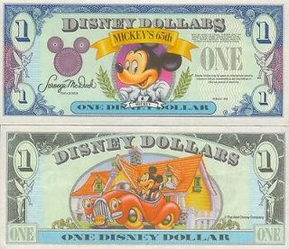 Scarce 1993 * Proof Disney Dollars No Serial Number * Mint Condition