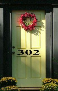 Custom Front Door Numbers Vinyl Decal Decor Lettering