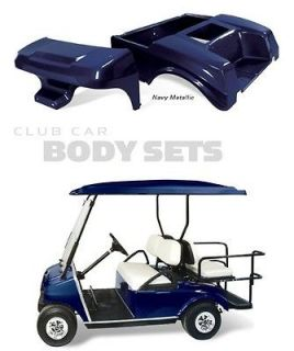 Club Car DS Golf Cart Complete NAVY METALLIC Color Through Body Set