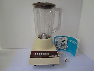 VINTAGE HAMILTON BEACH 7 SPEED BLENDER WITH 5 1/2 CUP JAR