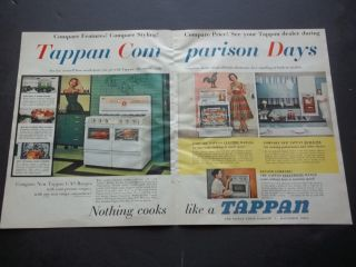 Original Advertising Tappan Stove Oven Range Vintage 1957 Print Ad