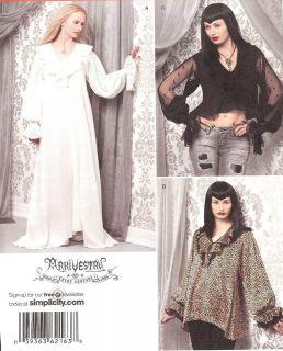 Romantic Ruffled top dress PATTERN Simplicity 2163 Arkivestry 6 22