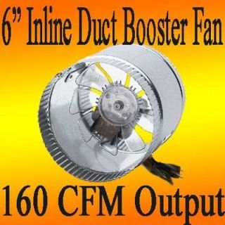 inch INLINE DUCT FAN booster air flow ducting in line