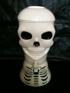 Skull 1.5 Gallon Beverage Dispenser White Plastic Cold Ice Tea