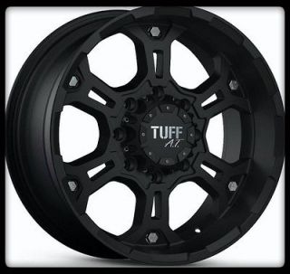 17 X 8 TUFF T03 BLACK W/ 37X13.50X17LT TOYO OPEN COUNTRY M/T WHEELS