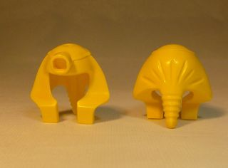 Lego Minifig Egyptian Mummy Pharaoh Headdress   Lot of 2   Yellow
