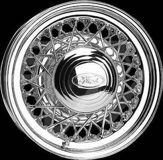 Wheel Vintiques 73 Series Street Rod Wire Chrome Wheel 15x6 5x4.5