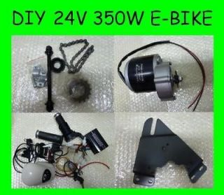 24v 350w Mini Electric Bicycle Kit Scooter Brush Motor Engine Charger