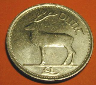 IRELAND  IRISH ONE PUNT COIN YEAR 1990