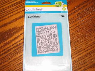 Cuttlebug Embossing Folder CHRISTMAS COUNTDOWN NEW Retired Cards