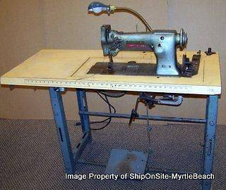 Vintage Upholstery Singer Sewing Machine + Table 112W140 ~ FREE S&H