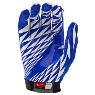 adult sz XXL Nike vapor jet receiver gloves/pair royal blue white nwot