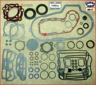 Engine Rebuild Gasket Kit, 91 2003 Harley 1200 Sportster   Carbon head