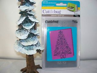 Lace Tree Embossing Folder by Cuttlebug   Mint Condition   RARE