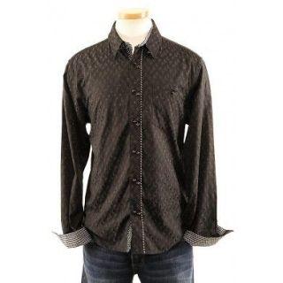 Mens Black Woven English Laundry JOHN LENNON PAUL McCARTNEY Shirt Size