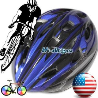 Cool Bike Helmet Black with Blue PVC EPS Bicycle Cycling Riding sport