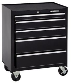 Master Mechanic MM26CBBBK5 Black 5 Drawer Rolling Tool Chest / Box