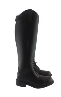 Men Field Equestrian Horse Riding Leather Boots Black US 11 with Wide