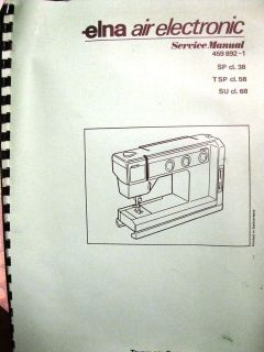 ELNA AIR Electronic English sewing machine Instruction SERVICE Manual